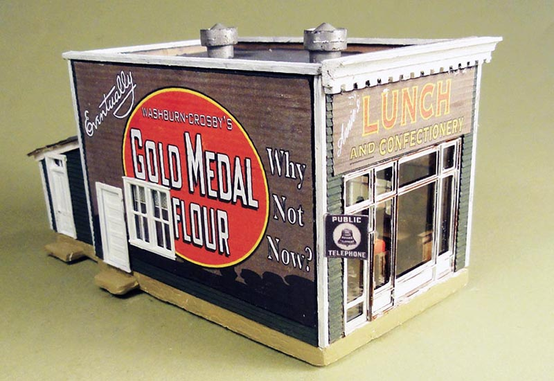 Annie's Lunch Counter in HO scale from Nick and Nora Designs