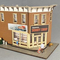 Pre-Assembled Menard's Hobby Shop in HO scale