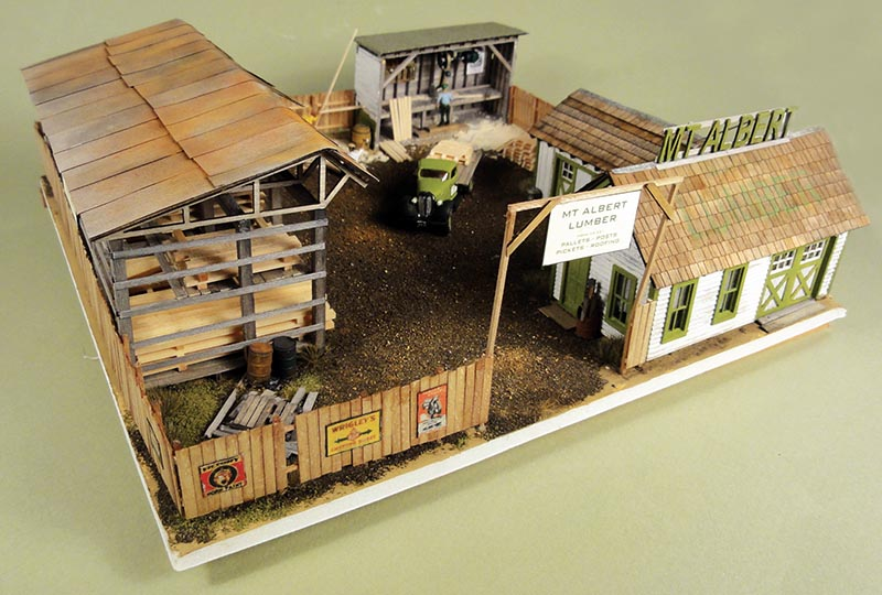 Lumber Yard Kit in HO Scale by Mt. Albert Scale Lumber