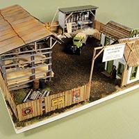 Lumber Yard Kit in HO Scale by Mt. Albert Scale Lumber